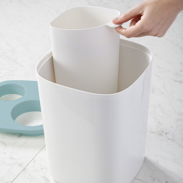 JosephJoseph Split bathroom waste separation bin