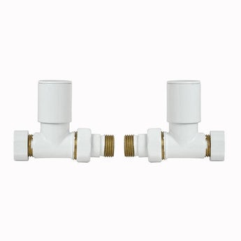 Clarity white straight radiator valves