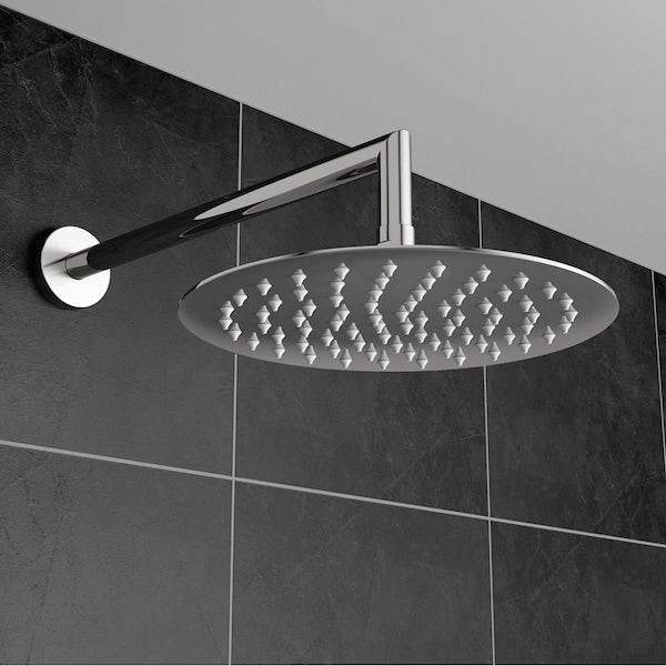 Polished Stainless Steel Waifer Shower Head Round 200mm