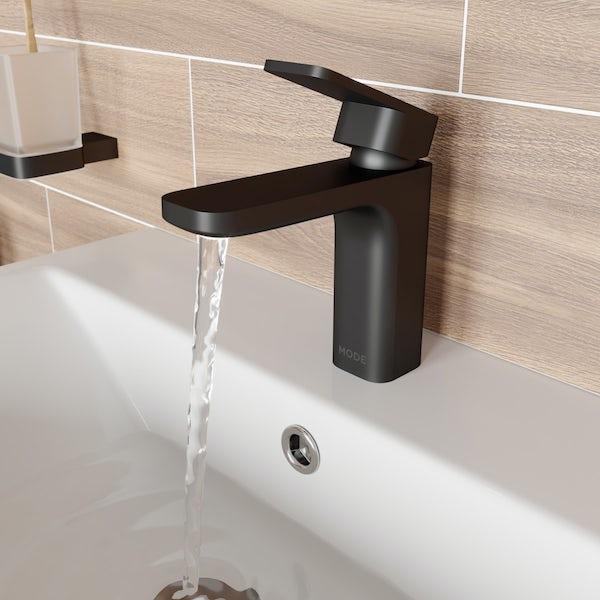 Mode Spencer square black basin mixer tap