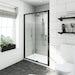 Mode black 6mm sliding shower door 1200mm