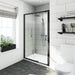 Mode Tate black 6mm sliding shower door 1200mm