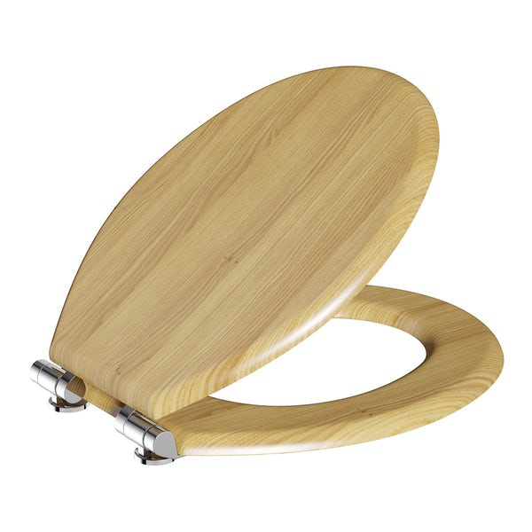 Oak Wooden Toilet Seat