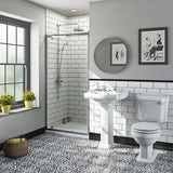 The Bath Co. Winchester traditional pivot shower door 700