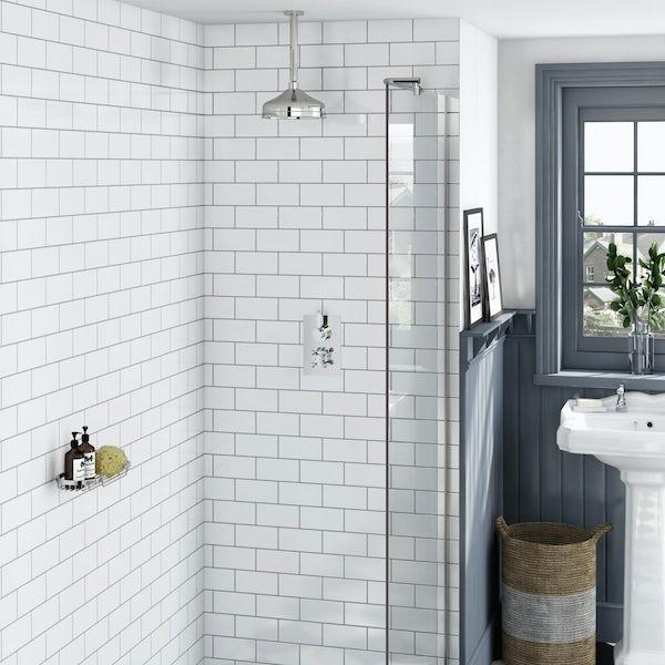 Antonio Thermostatic Valve & Ceiling Shower Set