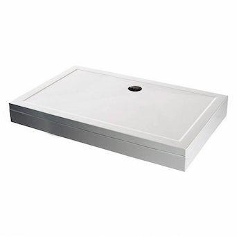 Rectangular Stone Shower Tray & Riser Kit 900 x 800