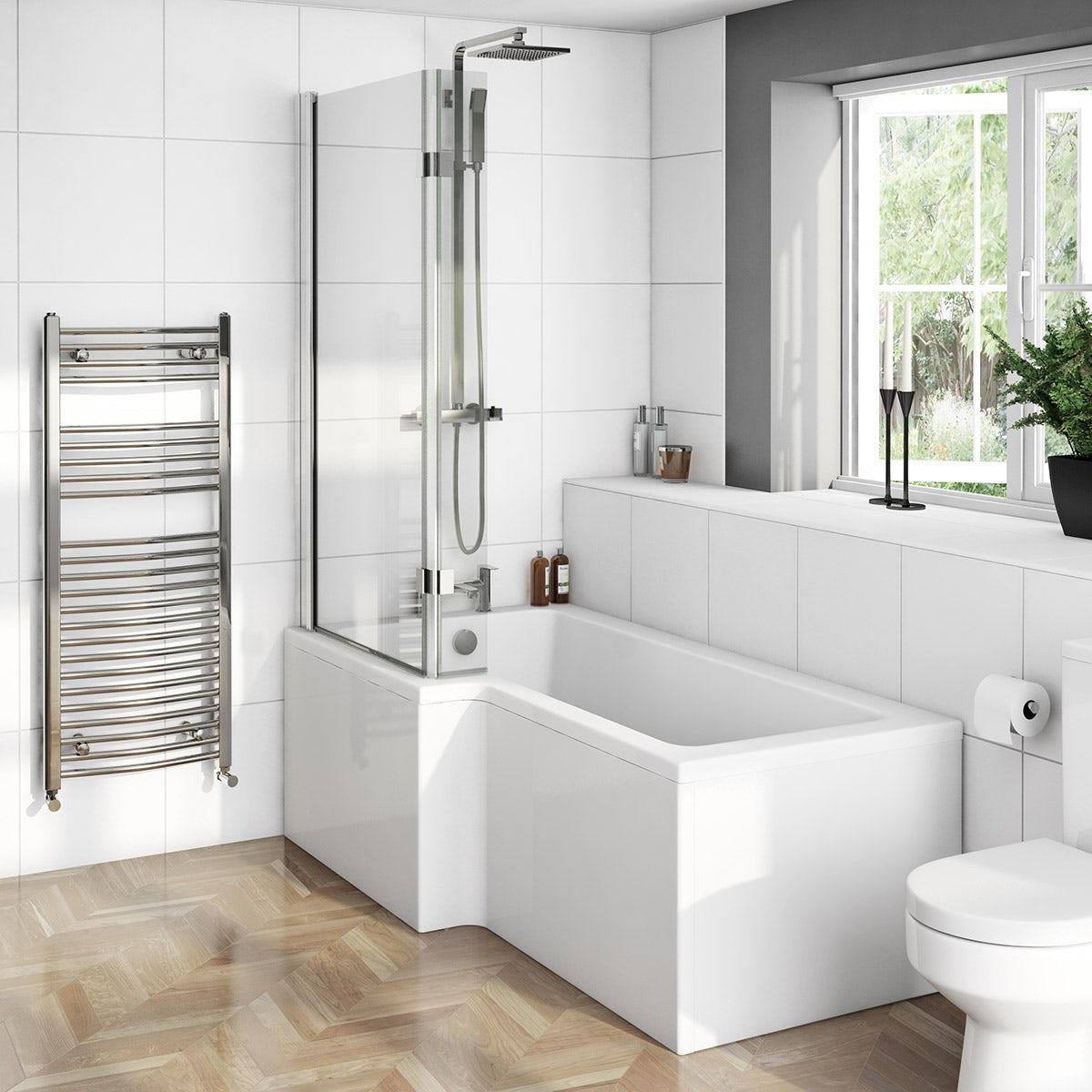 Boston Shower Bath 1700 x 850 LH inc. 8mm Hinged Screen