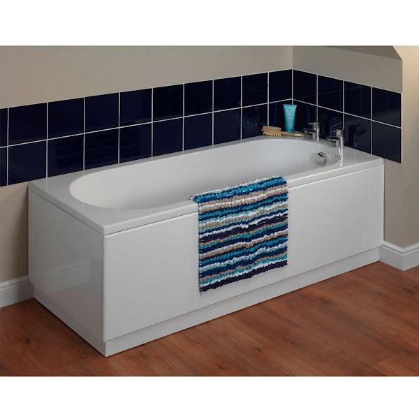 Gloss White Wooden Bath End Panel 750