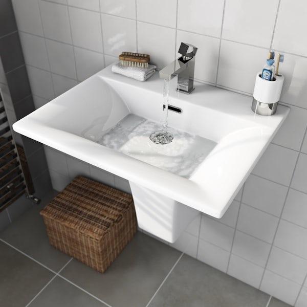 Mode Austin 1 tap hole semi pedestal basin 600mm