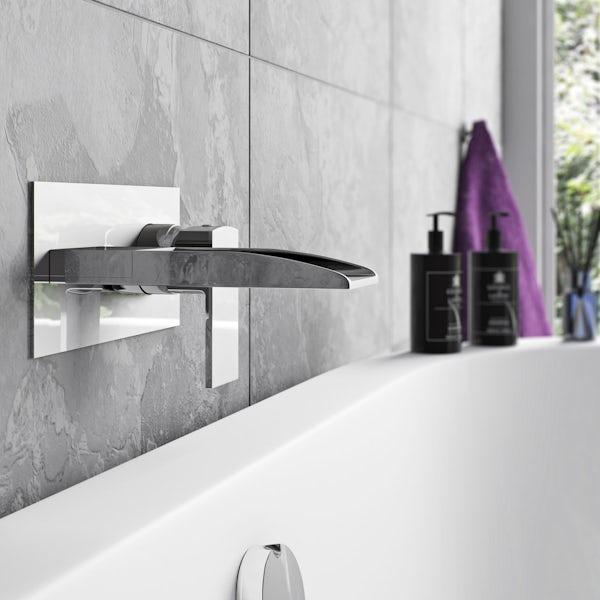 Mode Cooper wall mounted waterfall bath mixer tap