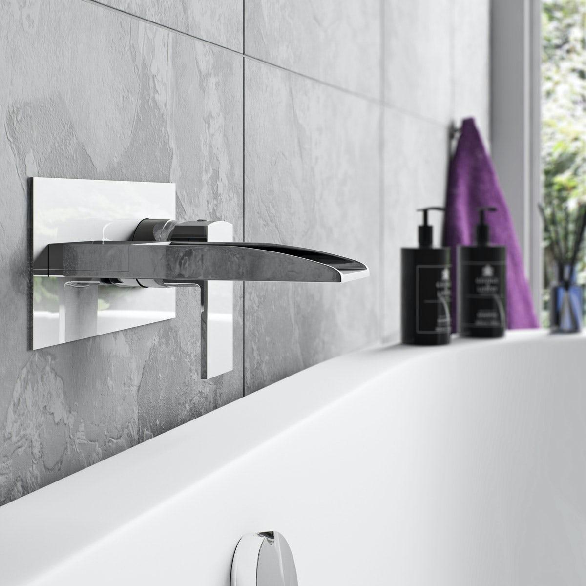 Mode Cooper wall mounted waterfall bath mixer tap   VictoriaPlum.com