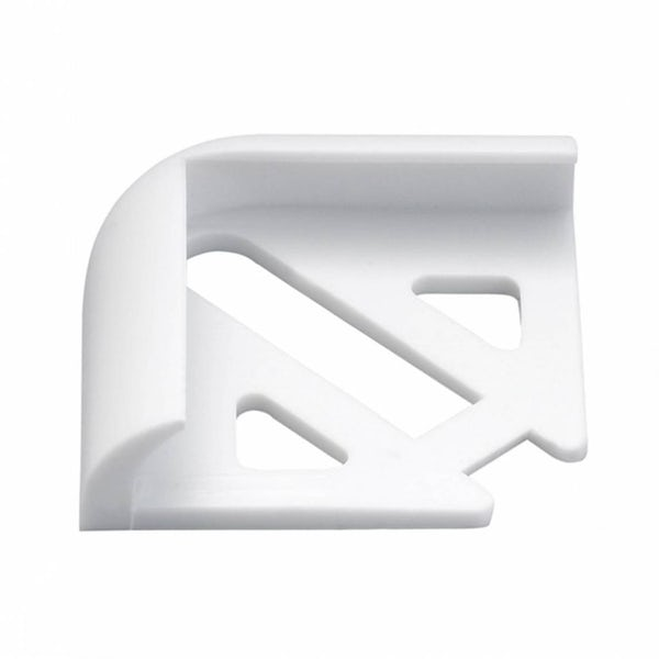 PVC White Tile Trim Corners (Pack of 2)