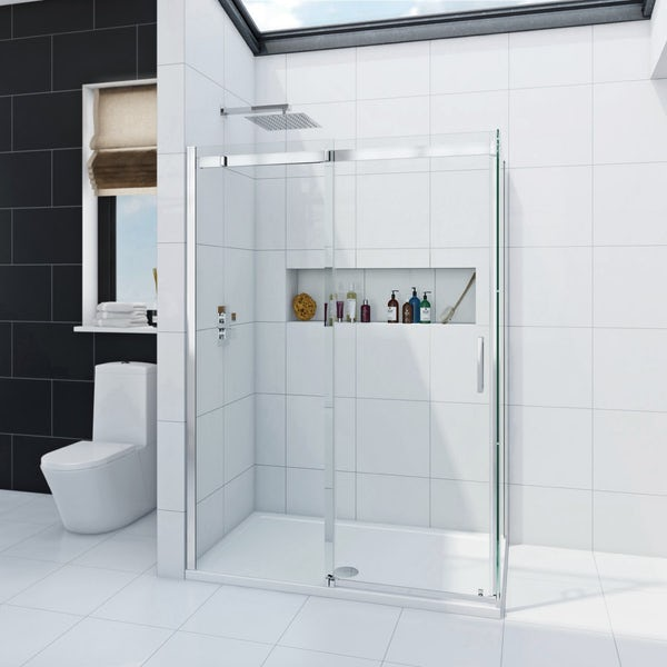 Infiniti 8mm Sliding shower enclosure 1200x800