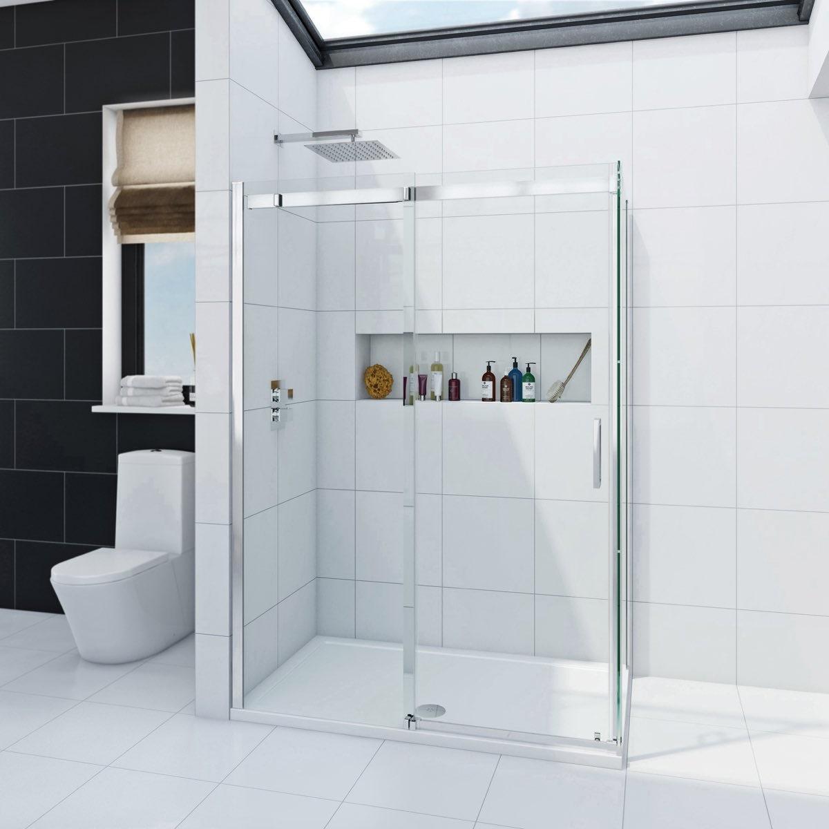 Mode Infiniti 8mm sliding door shower enclosure 1400 x 800