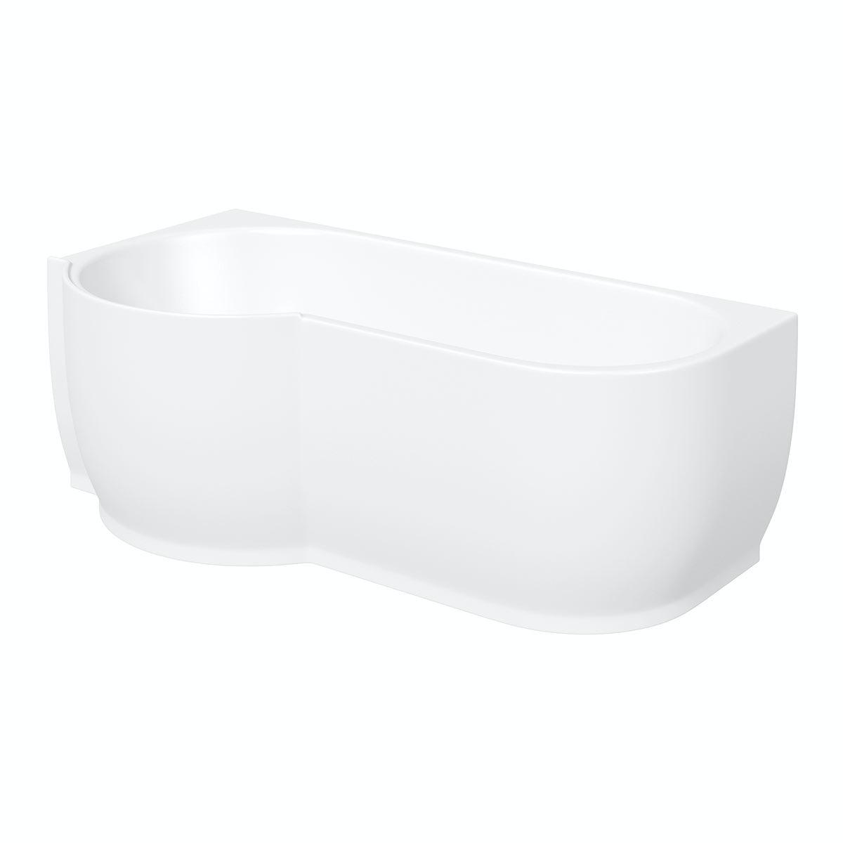 mode harrison left handed p shaped shower bath victoriaplum com free delivery harrison left handed freestanding bath