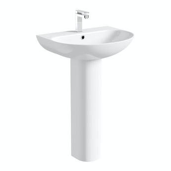 Mode Harrison full pedestal basin 555mm with waste