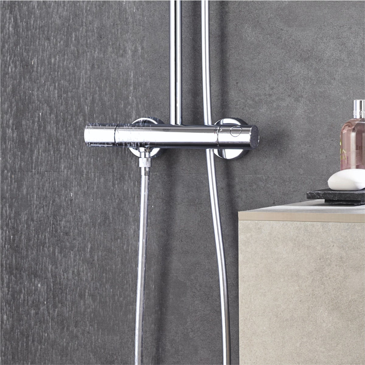 grohe euphoria xxl 210 shower system. Black Bedroom Furniture Sets. Home Design Ideas