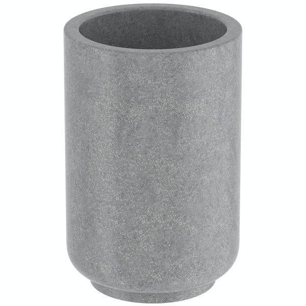 Mineral grey resin tumbler