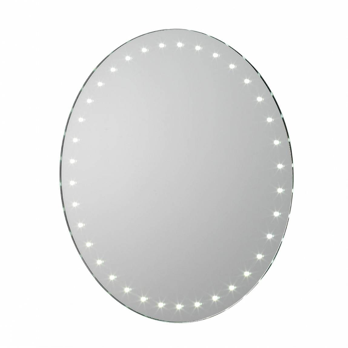 Aries LED Round Battery Mirror