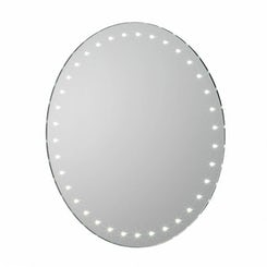 Aries battery powered LED bathroom mirror