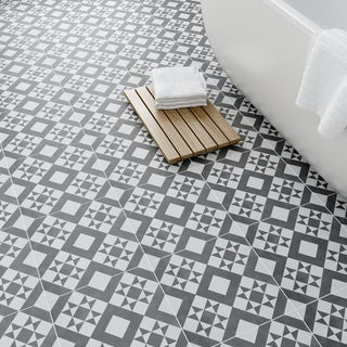 British Ceramic Tile Retro feature floor tile 331mm x 331mm