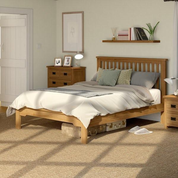 Rome Oak King Size Bed