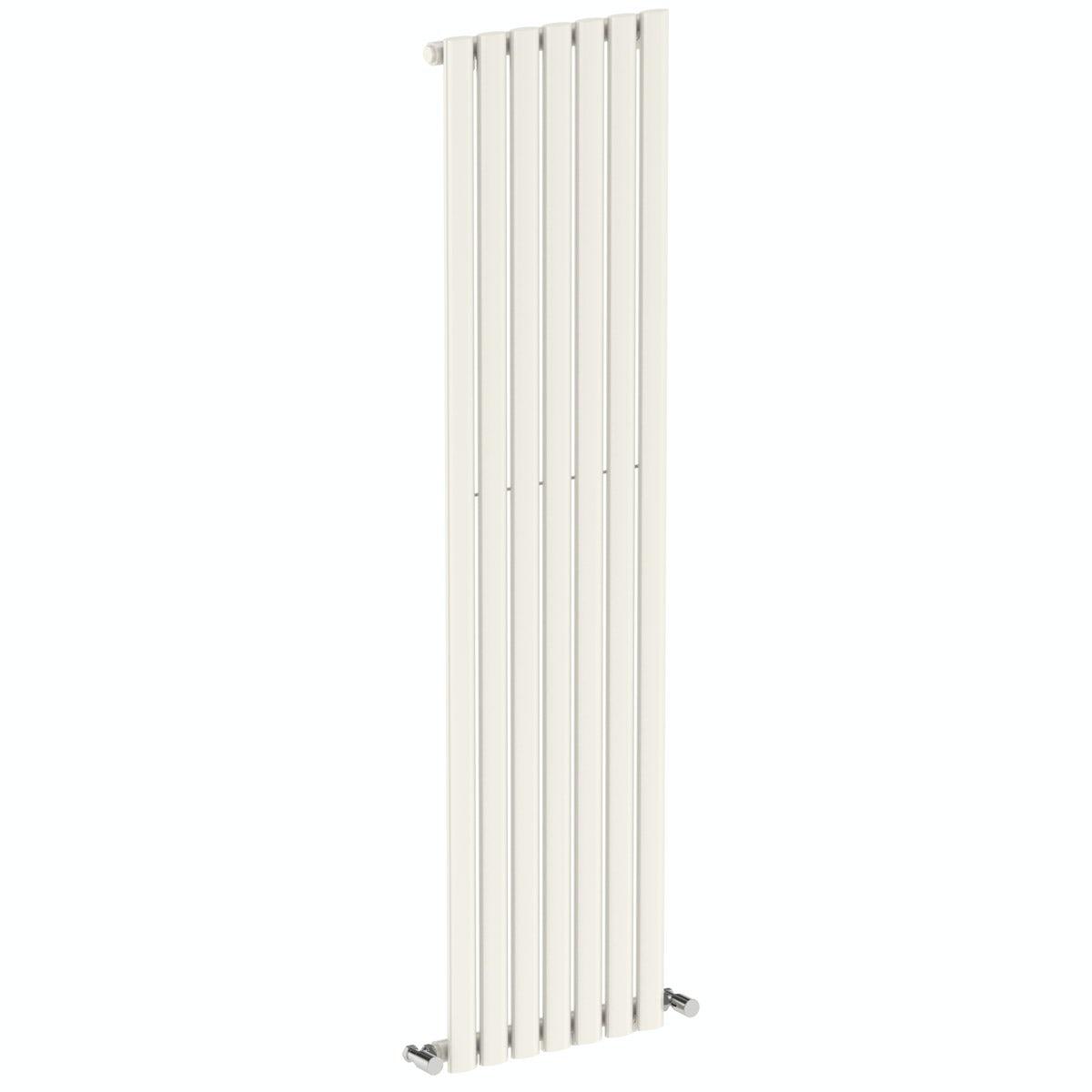 Tate white single vertical radiator 1600 x 406
