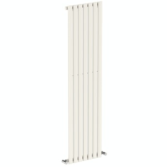 Lava white single vertical radiator 1600 x 406