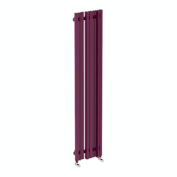 Sherwood purple violet vertical radiator 1600 x 330
