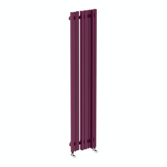 Terma Sherwood purple violet vertical radiator 1600 x 330
