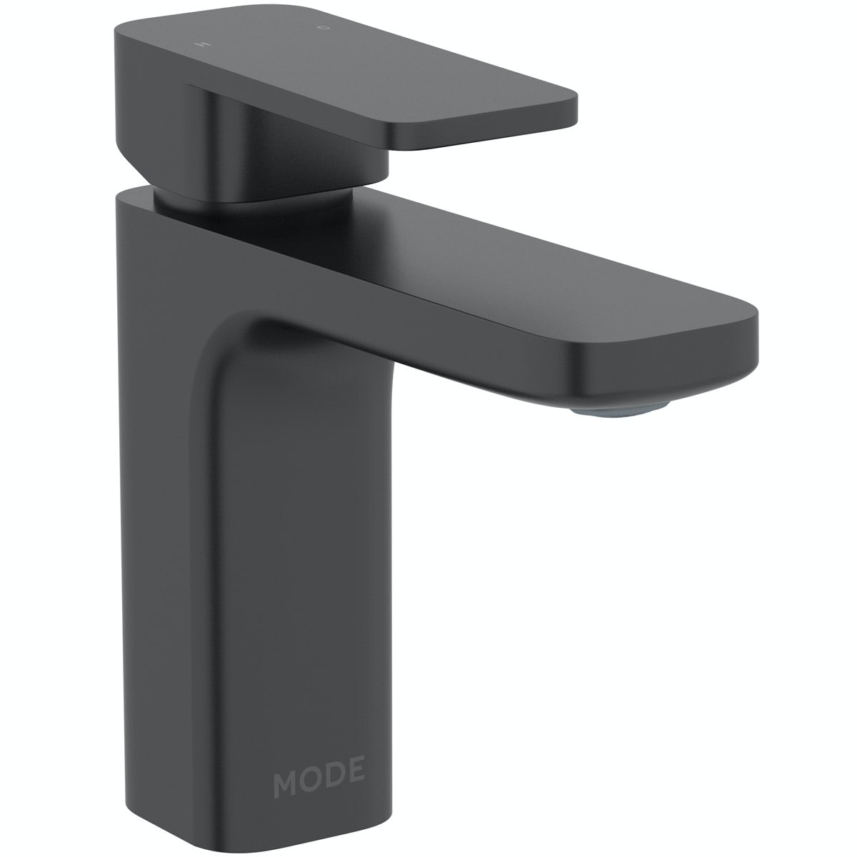 Mode Spencer square black basin mixer tap