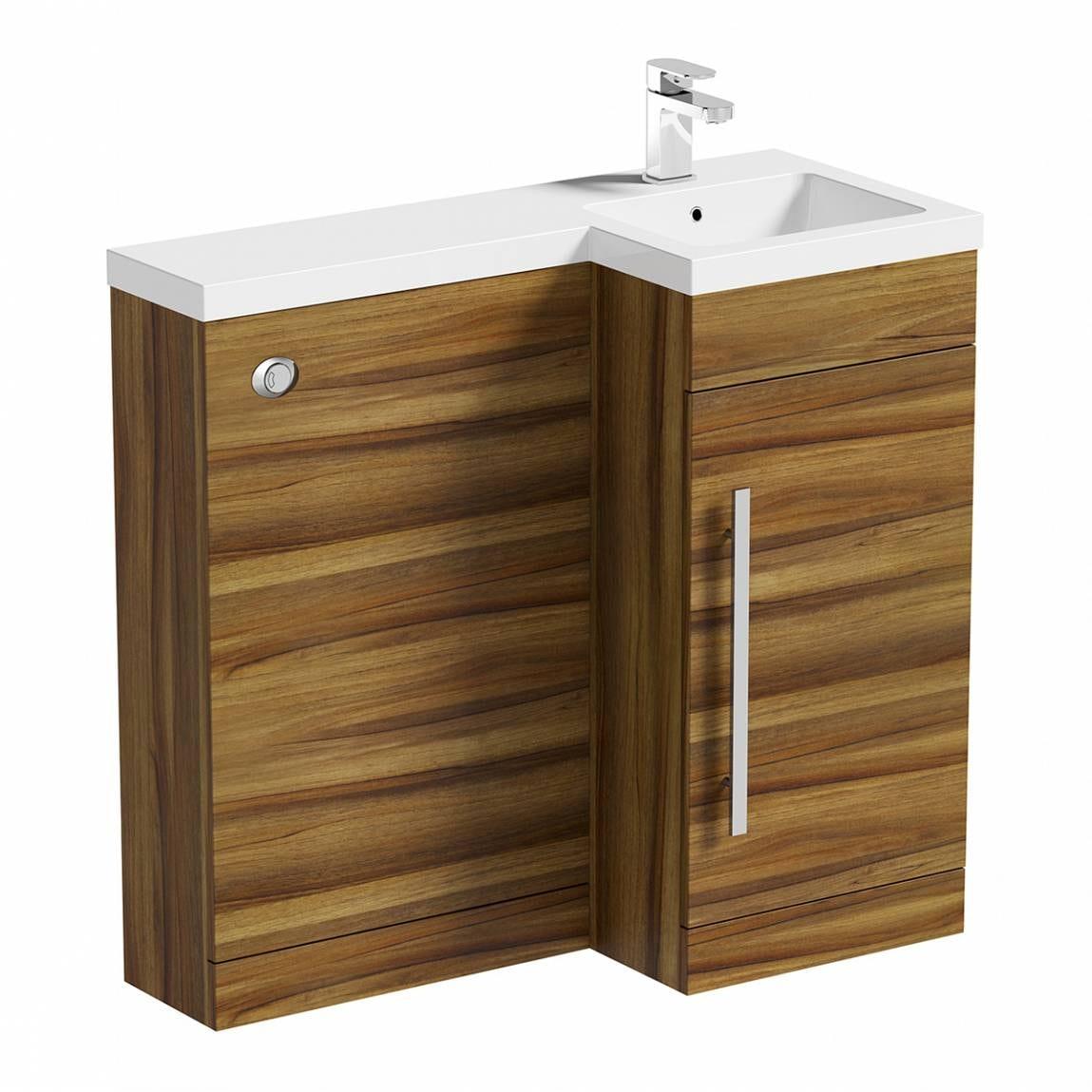 MySpace Walnut Combination Unit RH including Concealed Cistern