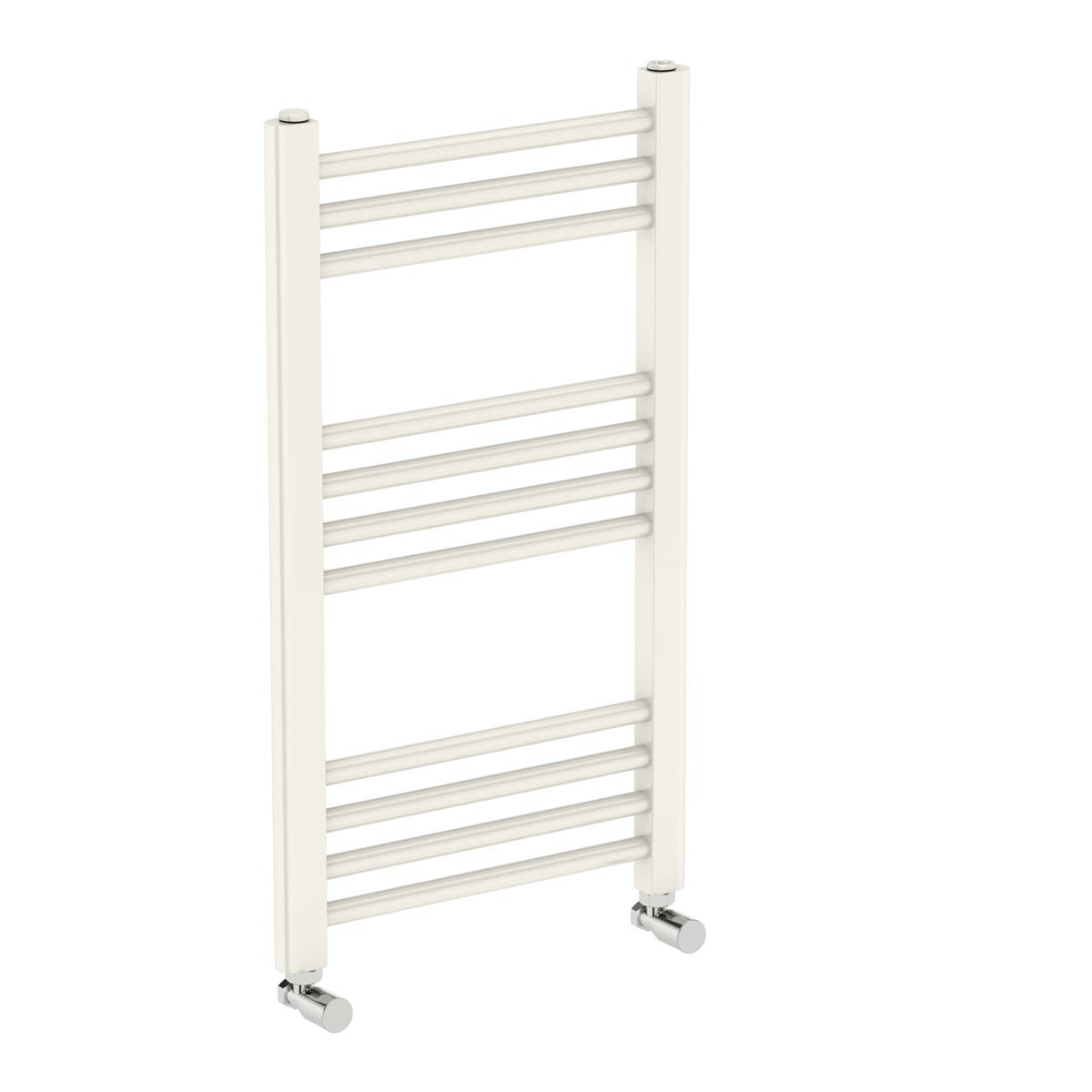 Orchard Eden round white heated towel rail 700 x 400 offer pack