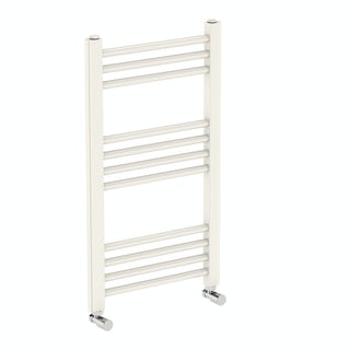 Eden round white heated towel rail 700 x 400