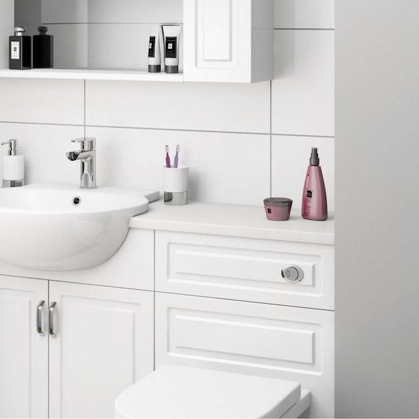 Orchard snow white vanity unit countertop 337 x 1800