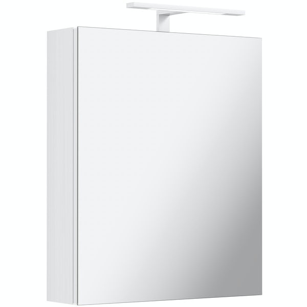 Mode Hale LED over & under lit mirror cabinet 500x600