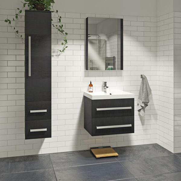 Orchard Wye essen furniture package with wall hung vanity unit 600mm