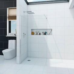 Luxury 8mm wet room recess panel 1200mm