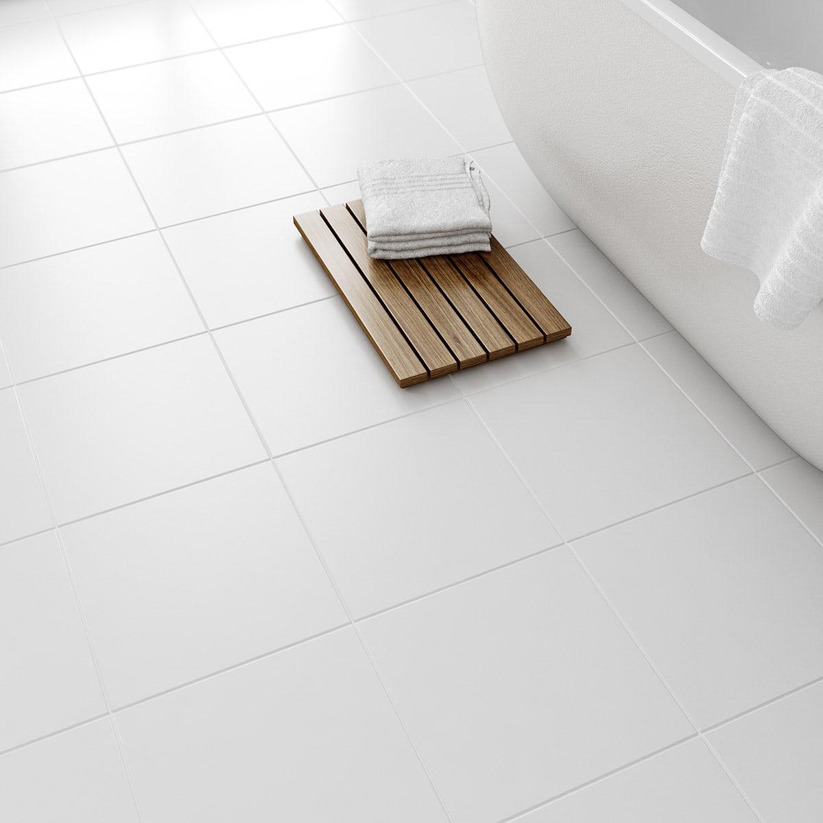 Bathroom floor tiles bathroom floor tiles uk victoriaplum laura ashley white satin floor tile 331mm x 331mm dailygadgetfo Choice Image