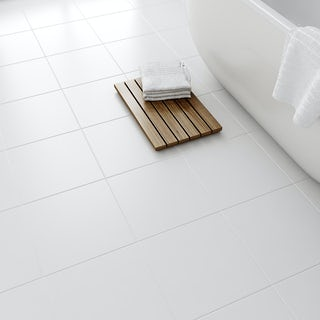 Laura Ashley white satin floor tile 331mm x 331mm
