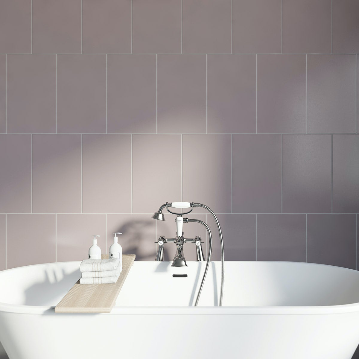 Studio Conran plain poise field beige gloss tile 248mm x 398mm
