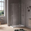 Jacuzzi the Essentials hinged door shower enclosure 1200x800