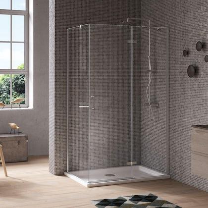 Jacuzzi the Essentials hinged door shower enclosure 1200x800