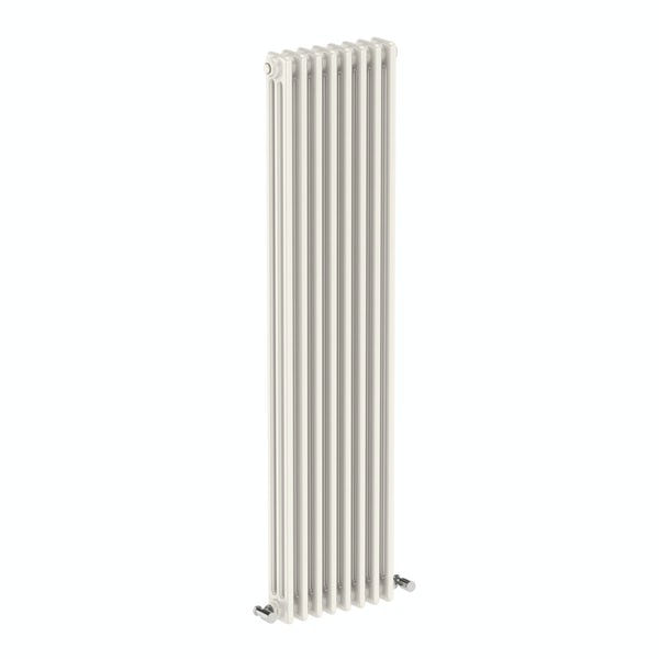 Dulwich vertical white triple column radiator 1500 x 378