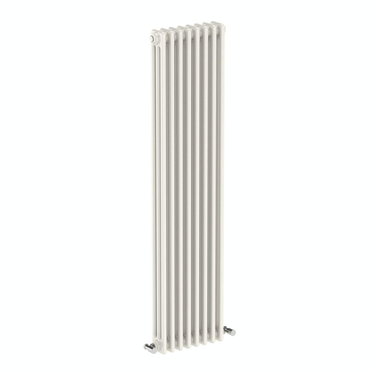 The Bath Co. Dulwich vertical white triple column radiator 1500 x 380 offer pack