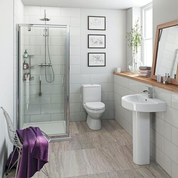 British Ceramic Tile Pure white satin tile 298mm x 498mm