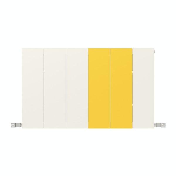 Neo soft white and zinc yellow horizontal radiator 545 x 900