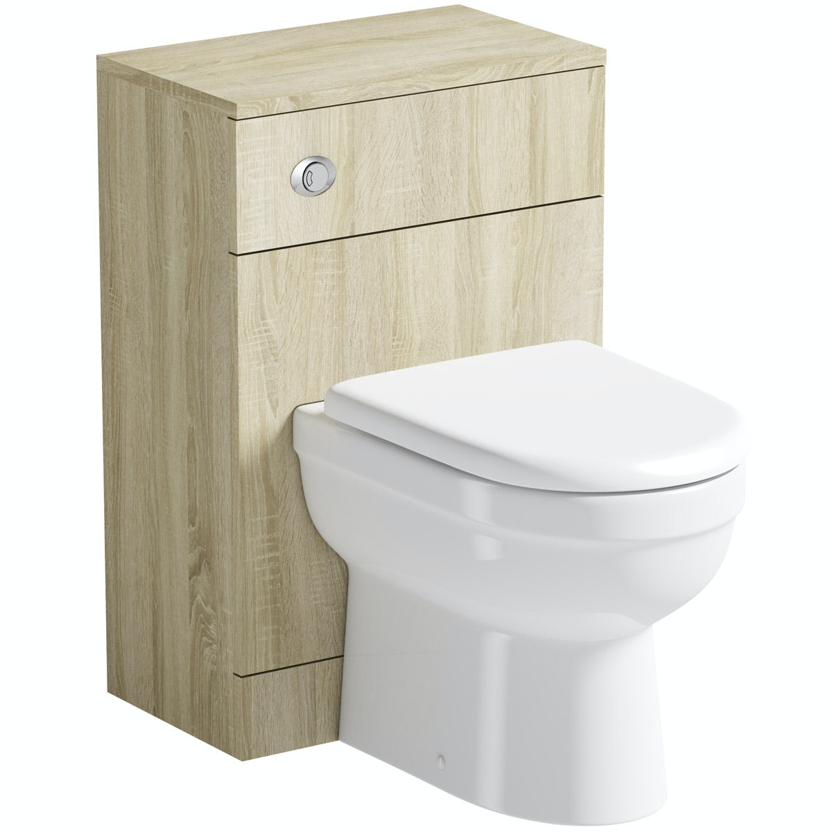 Orchard Eden oak slimline back to wall unit and toilet with seat