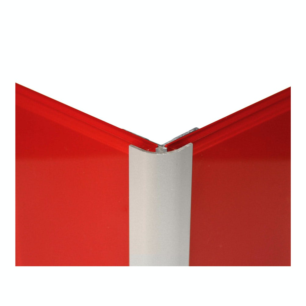 Zenolite plus brushed aluminium external corner profile 250mm
