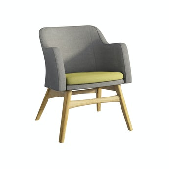 Sloane oak and grey/green armchair